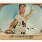 1955 Bowman baseball card #55 Cal Abrams EX/NM