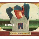 1955 Bowman baseball card #105 (B) Johnny Schmitz EX/NM