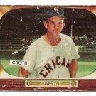 1955 Bowman baseball card #117 (D) Johnny Groth - fair