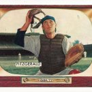 1955 Bowman baseball card #208 (D) Eddy Fitzgerald EX
