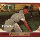 1955 Bowman baseball card #221 Hector Skinny Brown VG/EX