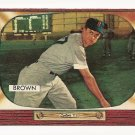 1955 Bowman baseball card #221 (C) Hector Skinny Brown EX