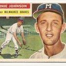1956 Topps baseball card #294 Ernie Johnson VG/EX Milwaukee Braves