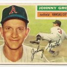 1956 Topps baseball card #279 Johnny Groth Vg Kansas Citys A's