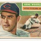 1956 Topps baseball card #163 (B) Gene Woodling VG Cleveland Indians