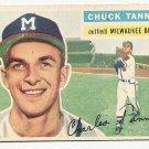 1956 Topps baseball card #69 Chuck Tanner G/VG Milwaukee Braves