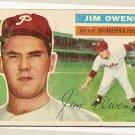 1956 Topps baseball card #114 Jim Owens G/VG Philadelphia Phillies