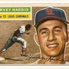 1956 Topps baseball card #77 Harvey Haddix VG St. Louis Cardinals