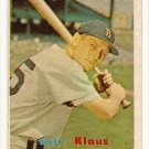 1957 Topps baseball card #292 Billy Klaus VG