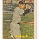 1957 Topps baseball card #311 Al Pilarcik - good