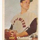 1957 Topps baseball card #261 Bob Chakales VG