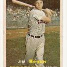 1957 Topps baseball card #136 Jim Hegan - good