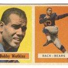1957 Topps football card #7 Bobby Watkins Vg Chicago Bears