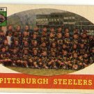 1958 Topps football card #116 Pittsburgh Steelers team VG