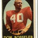 1958 Topps football card #132 Don Bosseler F/G Washington Redskins