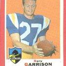1969 Topps football card #233 (B) Gary Garrison EX San Diego Chargers