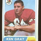 1968 Topps football card #138 Ken Gray VG St. Louis cardinals