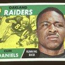 1968 Topps football card #90 Clem Daniels EX Oakland raiders