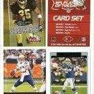2006 NFL Player of the Day football card promo set Reggie Bush, Tom Brady, Peyton Manning