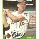 1965 Topps baseball card #542 Lou Klimchock VG Milwaukee Braves