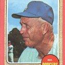 1968 Topps baseball card #472 Walt Alston EX