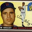 1955 Topps baseball card #141 (B) Tom Wright NM Washington Nationals