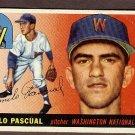 1955 Topps baseball card #84 (C) Camilo Pascual VG/EX Washington Nationals
