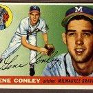 1955 Topps baseball card #81 (C) Gene Conley EX Milwaukee Braves