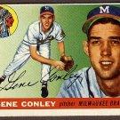 1955 Topps baseball card #81 (D) Gene Conley EX Milwaukee Braves
