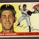 1955 Topps baseball card #73 (B) Jack Shepard EX Pittsburgh Pirates