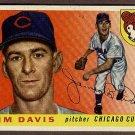 1955 Topps baseball card #68 Jim Davis VG (light surface wrinkles) Chicago Cubs