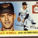 1955 Topps baseball card #57 (B) Billy O'Dell EX/NM Baltimore Orioles