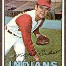 1967 Topps baseball card #95 Sonny Siebert EX/Nm (miscut) Cleveland Indians