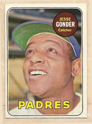 1969 Topps Baseball Card 617 Jesse Gonder Ex San Diego Padres