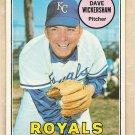 1969 Topps baseball card #647 Dave Wickersham VG Kansas City Royals