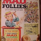 Mad Follies comic magazine #2 1964 VG - has perforated calendar pages still attached!