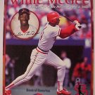 2000 St. Louis Cardinals Farewell to Willie McGee commemorative card NM 8x10