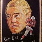 "1970 football Pro-Star Portrait Jackie Smith (B) St. Louis Cardinals 7.5""x10"" (small corner tear)"