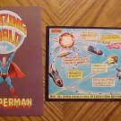 TWO Postcards - Amazing World of Superman, dated 1972, unused, EX/NM