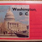Postcard - Washington DC fold-out packet set, 1960's? unused, VG condition, see pics
