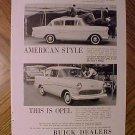 Magazine print ad - 1959 Buick Opel