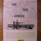 Magazine print ad - Hertz Rent a Car (1959 Chevrolet)