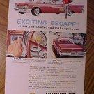 Magazine print ad - 1959 Chrysler automobiles w/ pushbutton transmissions