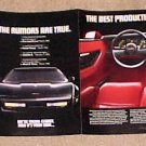Magazine print ad - 1984 Chevrolet Chevy Corvette - 4 page fold out!