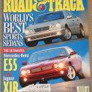Road & Track magazine Febrauary 1999 Mercedes Benz E55 vs Jaguar XJR