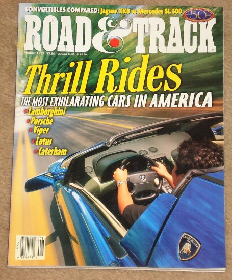 Road & Track Magazine August 1997 Jaguar XK8 Vs Mercedes
