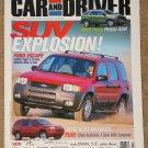 Car & Driver magazine July 2000 SUV's! Ford Escape, Oldsmobile Bravada, Volvo V70 T5