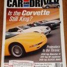 Car & Driver magazine August 2001 Corvette Z06, Mini Cooper, Boxster S, SLK32 AMG, Jeep Liberty