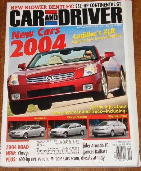 Bentley Cars Magazine Today Raiacars Com: Car & Driver Magazine October 2003 Cadillac XLR, Bentley