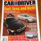 Car & Driver magazine May 2004 BMW 645Ci, Maserati Cambiocorsa, Mercedes CLK55 AMG